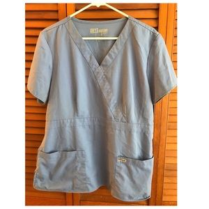 Grey's Anatomy Womens Mock-wrap scrub top